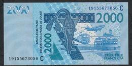 W.A.S. P316Cs 2000 FRANCS (20)19  Date = 2019    UNC. - West African States