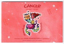 Australia 2008 Prestige Booklet Zodiac Cancer Sterrenbeeld Kreeft - Astrology