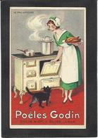 CPA Publicité Publicitaire Réclame Non Circulé Chat Cat Godin Guise Aisne - Pubblicitari