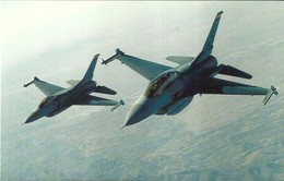 "3666 ""F-16D & C FIGHTING FALCONS"" CARTOLINA POSTALE ORIG. NON SPEDITA - 1946-....: Era Moderna"