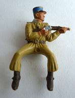 SOLDAT FIGURINE STARLUX SAHARIEN CAVALIER TIREUR FUSIL à Partir De 1963 404 SAPHI SAHARIEN Bout Fusil Cassé - Starlux