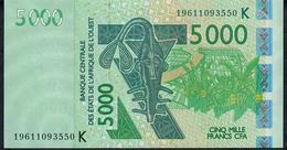 W.A.S. P717Ks 5000 FRANCS (20)19  Date = 2019    AUNC. - Estados De Africa Occidental
