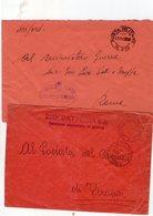 ITALIA  Storia Postale   Lotto Di 2  Buste  Di Posta Militare  219 + Sezione A.     Descrizione - 1900-44 Vittorio Emanuele III