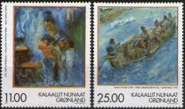 Groenland 1998 Yvertn° 304-05 *** MNH Cote 15 Euro  Peintre Hans Lynge - Neufs