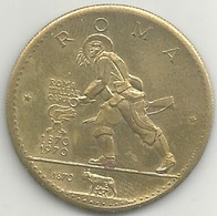 Bersaglieri 100° Presa Di Roma 1970, Facsimile Moneta Oro Ras Al Khaima, Mist. Gr. 10, Cm. 3,2. - Italien
