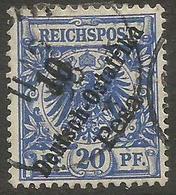German East Africa - 1896 German Eagle 10p/20pf  Used  Sc 9 - Colony: German East Africa