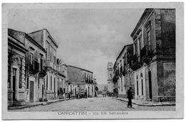 CANICATTINI - SIRACUSA - VIA XX SETTEMBRE - CARTOLINA VIAGGIATA NEL 1930 - Siracusa
