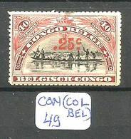 CON(COL.BEL.) COB 97 YT 97 En X - Belgisch-Kongo