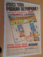 DIV415 : Clipping PAGE DE REVUE TINTIN ANNEES 60/70 EN COULEURS : PUBLICITE NESQUIK JEUX OLYMPIQUES TOKYO - Publicité