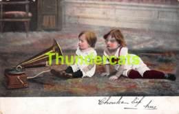 CPA ENFANT GRAMMOPHONE GRAMOPHONE  CHILD CHILDREN PHONOPRAPH PHONOGRAPHE - Ritratti