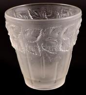Inwald Barolac Levels Váza, Formába öntött, Jelzés Nélkül, Apró Karcolásokkal, M: 16,5 Cm, D:16 Cm - Glass & Crystal