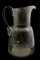 2 Db üveg Kiöntő, Hibátlanok, M: 22 és 24 Cm - Glass & Crystal