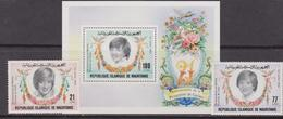 Mauritania  - Diana Set+ Sheet   MNH - Donne Celebri