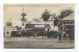 Irish International Exhibition, Dublin 1907 - Somali Village - Old Postcard - Expositions