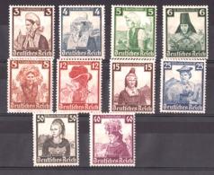 Allemagne - 1935 - N° 547 à 556 - Neufs * (sauf 556 Neuf **) - Costumes Régionaux - Allemagne