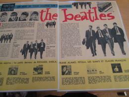 DIV415 : Clipping PAGE DE REVUE TINTIN ANNEES 60/70 EN COULEURS : DOUBLE PAGE 1964 SUR LES BEATLES - Musik & Instrumente