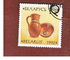 BIELORUSSIA (BELARUS)   - SG 40  - 1992  POTTERY: JUG & BOWL  -   USED - Belarus