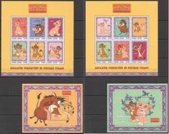 K414 SIERRA LEONE CARTOONS WALT DISNEY THE LION KING SIMBA'S PRIDE 2KB+2BL MNH - Disney