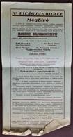 1933 Gödöllő Cserkész IV. VilágJamboreemeghívó Kisplakát + 2 Reklám Nyomtatvány  / Scout World Jamboree Invitation For C - Scouting