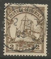 German East Africa - 1901 Kaiser's Yacht 2p Fine Used  Sc 11 - Colony: German East Africa