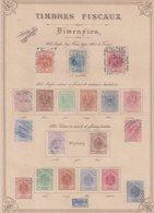 FRANCE : DIMENSION ET EFFETS DE COMMERCE . ALSACE LORRAINE . DIVERSES VALEURS . 1870/71 . - Revenue Stamps