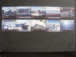 Territoire Antarctique Britannique: TB Série N° 580 Au N° 589 En 2 Bandes, Neufs XX. - Neufs