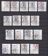 Berlin - 1986/89 - Freimarken: Frauen Der Deutschen Geschichte - Ecken - Gest. - 220 Euro - Used Stamps