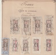 FRANCE : EFFETS DE COMMERCE . TYPE NAPOLEON III . PREDECOUPES SUR FGT . 15 EX . - Revenue Stamps