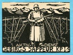 Karte Gebirgs Sappeur KP. I/9 - Katalogpreis Fr. 50.- - Poste Militaire