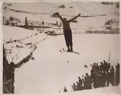 SKI-ING SKI SWITZERLAND  SUISSE WINTER SPORT   ENGELBERG 26* 20 CM Fonds Victor FORBIN 1864-1947 - Deportes