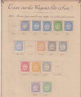 FRANCE : IMPOTS . TAXE SUR LES WAGONS-LITS . 25 EX * . 1878/88 . - Revenue Stamps