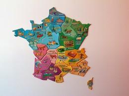 MAGNET CARTE DE FRANCE PETIT ECOLIER REGIONS COMPLET - Publicitaires