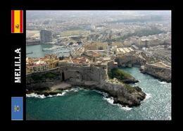 Melilla City Fortress Aerial View New Postcard - Melilla
