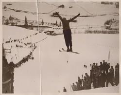 CRACK SEE SCAN SKI-ING ENGELBERG SWITZERLAND SUISSE WINTER SPORT 26* 20 CM Fonds Victor FORBIN 1864-1947 - Deportes