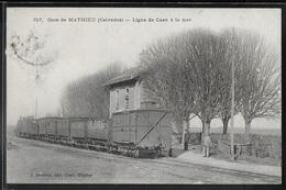 CPA 14 - Mathieu, La Gare - Ligne De Caen à La Mer - Francia