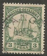 German East Africa - 1901 Kaiser's Yacht 3p Fine Used  Sc 12 - Colony: German East Africa