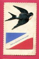 CPA à Système (Réf : X287) «MILITARIA PATRIOTIQUES» VIVE LA FRANCE ET SES ALLIÉS - Patriotiques