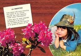 """3690 """"LA SMORTINA"""" CANTI DELLA MONTAGNA-BAMBINA CON CAPPELLO D'ALPINO- CARTOLINA POSTALE ORIG. NON SPEDITA - Musica"""