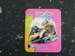MAGNET PETIT ECOLIER LOUP WOLF ALPES - Publicitaires