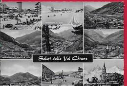CARTOLINA VG ITALIA - Saluti Dalla Val Chisone (TO) - Vedutine Multivue - 10 X 15 - ANN. 1963 - Saluti Da.../ Gruss Aus...