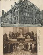 La Sorbonne 2 Cartes  Eglise Ecile Theologie - Schools