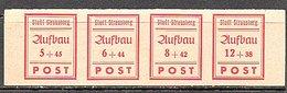 Strausburg 1946 MNH Strip Of 4 (d223) - Soviet Zone