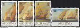 Alderney - 1992 - Yvert N° 55 à 58 **  - Bataille Navale De La Hougue - Alderney