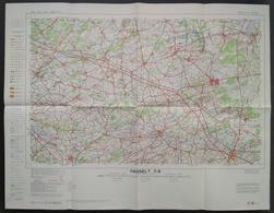 Topografische Kaart STAFKAART Hasselt Hageland Diest Zichem Bekkevoort Aarschot Lier Mol Leopoldsburg Kamp Herentals - Cartes Topographiques