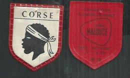 Ecusson 4cm X 4cm Café Maurice. La Corse - Reclame