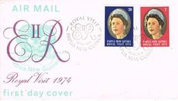 32739. Carta F.D.C. PAPUA And NEW GUINEA 1974. Visit Royal Elisabeth II. Queen - Papouasie-Nouvelle-Guinée
