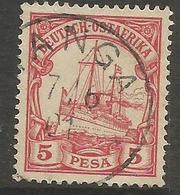 German East Africa - 1901 Kaiser's Yacht 5p Fine Used  Sc 13 - Colony: German East Africa