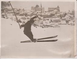 ST MORITZ FLURY KOCH MORVEN CUPP OLYMPIC SKI JUMP CHANTARELLA SWISS SWITZERLAND  20 *15 CM Fonds Victor FORBIN 1864-1947 - Deportes