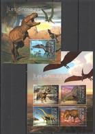 QQ865 2013 NIGER PREHISTORIC DINOSAURS LES DINOSAURES 1KB+1BL MNH - Stamps