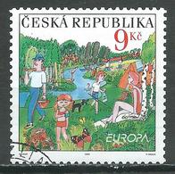 Rép. Tchèque YT N°366 Europa 2004 Les Vacances Oblitéré ° - Europa-CEPT